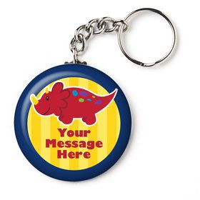 """Little Dino Personalized 2.25"""" Key Chain (Each)"""