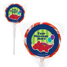 "Little Dino Personalized 2"" Lollipops (20 Pack)"