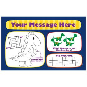 Little Dino Personalized Activity Mat (8 Count)