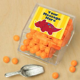 Little Dino Personalized Candy Bin with Candy Scoop (10 Count)