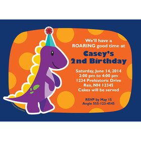 Little Dino Personalized Invitation (Each)