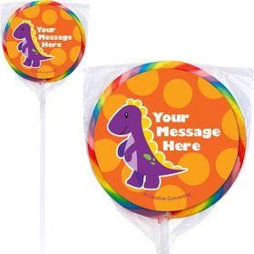 Little Dino Personalized Lollipops (12 Pack)