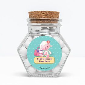 """Little Doc Personalized 3"""" Glass Hexagon Jars (Set of 12)"""