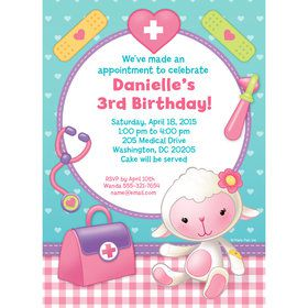 Doc Mcstuffins Personalized Invitation