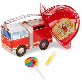 Little Fireman Party Favor Box (4-Pack)