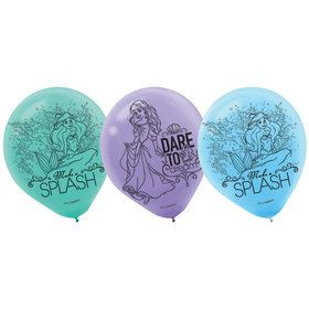 "Little Mermaid 12"" Latex Balloons (6 Pack)"