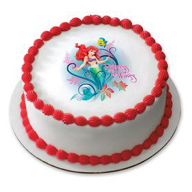 "Little Mermaid 7.5"" Round Edible Cake Topper (Each)"