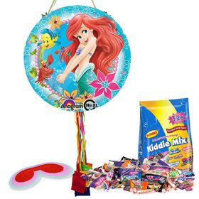Little Mermaid Ariel Pull String Pinata Kit