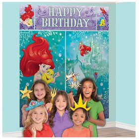Little Mermaid Ariel Scene Setter with Photo Booth Props