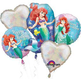 Little Mermaid Balloon Bouquet (5 Pack)