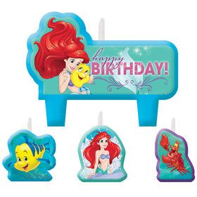 Little Mermaid Birthday Candle Set (4 Pack)