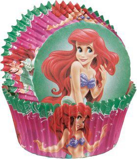 Little Mermaid Cupcake Baking Cups (50 Pack)
