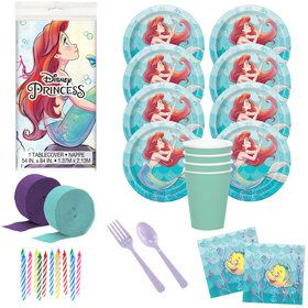 Little Mermaid Deluxe Tableware Kit (Serves 8)