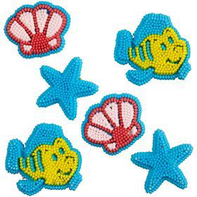 Little Mermaid Edible Icing Decorations (12 Pack)