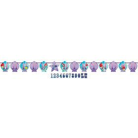 Little Mermaid Jumbo Add-An-Age Letter Banner (Each)
