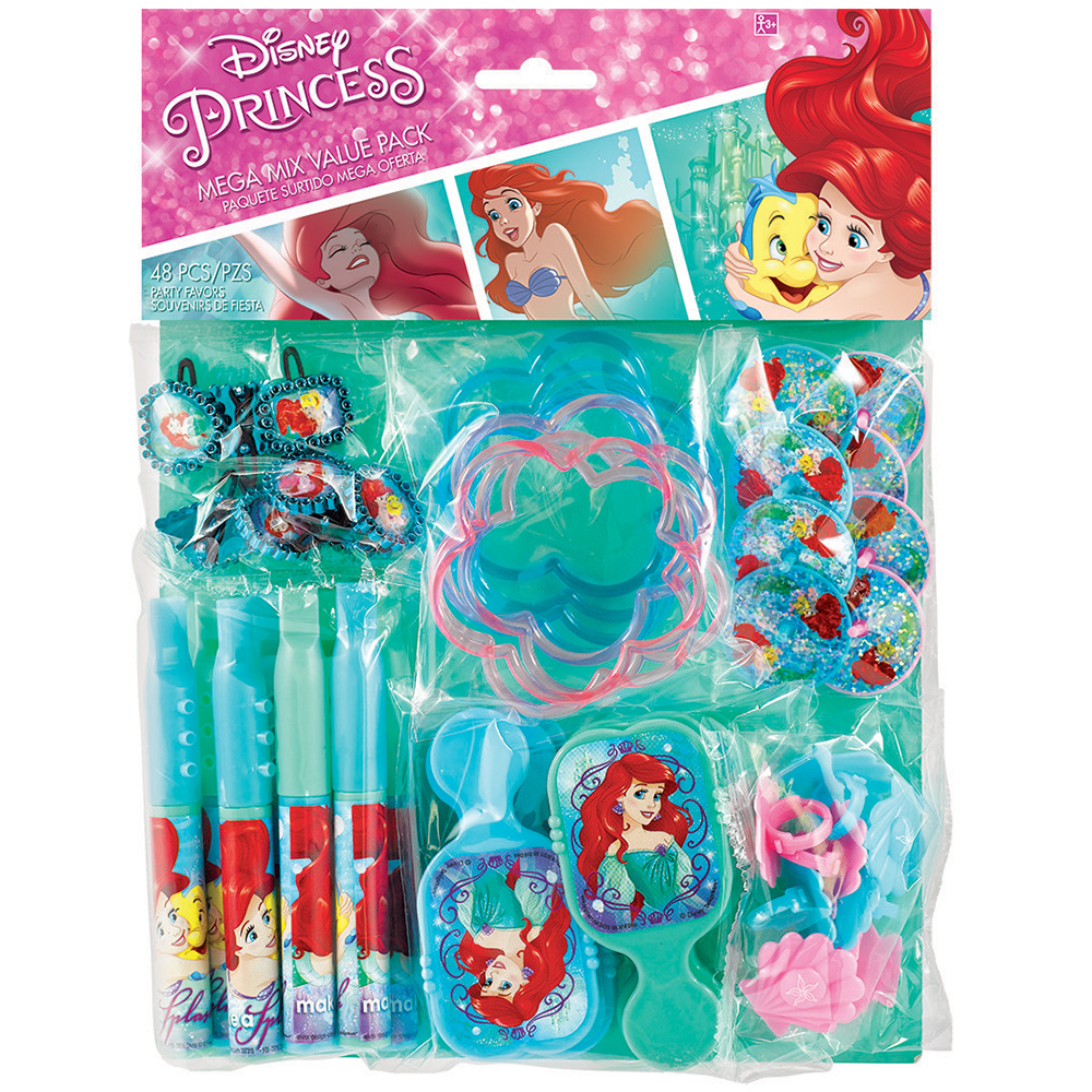 Little Mermaid Mega Mix Favor Pack (For 8 Guests) - Party Supplies BB396689
