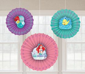 Little Mermaid Paper Fan Decorations (3)