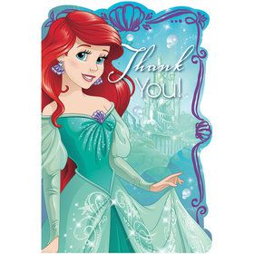 Little Mermaid Postcard Thank You Cards (8 Pack)