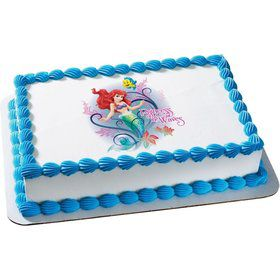 Little Mermaid Quarter Sheet Edible Cake Topper (Each)