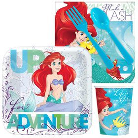 Little Mermaid Standard Birthday Party Tableware Kit Serves 8