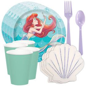 Little Mermaid Tableware Kit (Serves 8)