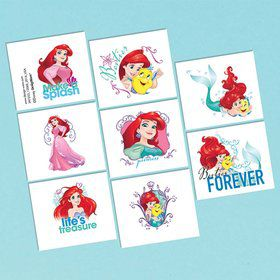Little Mermaid Tattoo Favors (16 Pack)