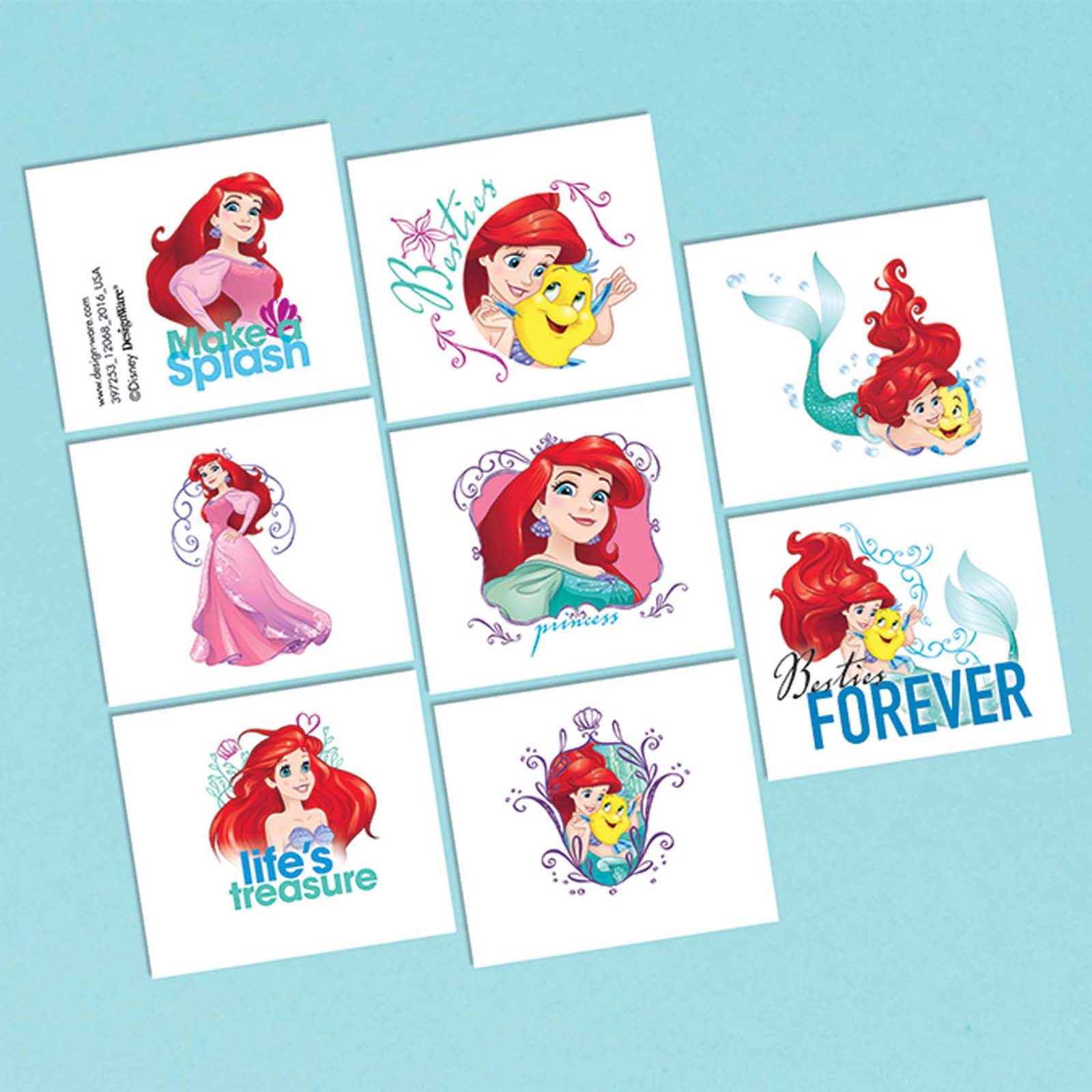 Little Mermaid Tattoo Favors (16 Pack) - Party Supplies BB398688