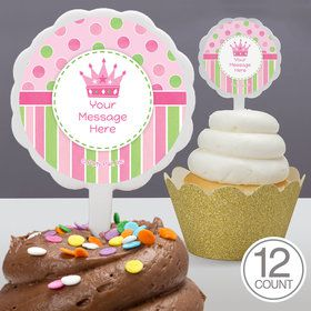 Little Princess Personalized Cupcake Picks (12 Count)