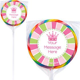 Little Princess Personalized Lollipops (12 Pack)