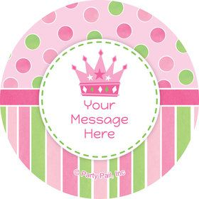 Little Princess Personalized Mini Stickers (Sheet of 24)