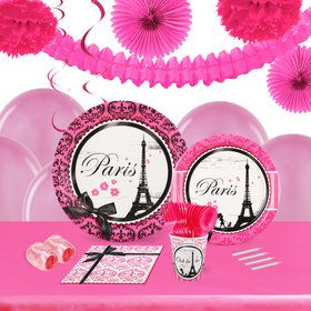 Paris Damask 16 Guest Tableware Deco Kit