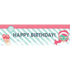 Little Spa Party Birthday Banner