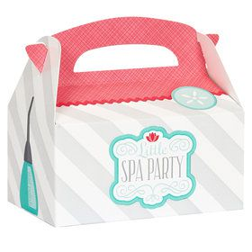 Little Spa Party Empty Favor Boxes (4)