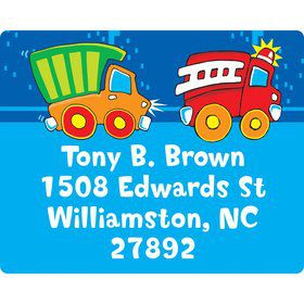 Little Truck Party Personalized Address Labels (Sheet of 15)