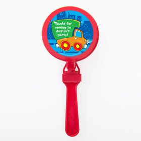 Little Truck Party Personalized Clappers (Set of 12)