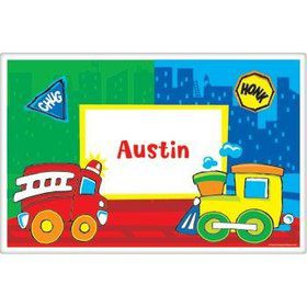 Little Truck Party Personalized Placemat (each)