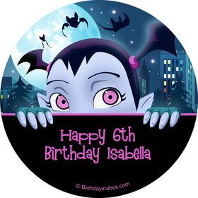 Little Vampire Personalized Stickers (Sheet of 12)