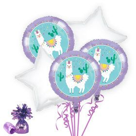 Llama Party Balloon Bouquet Kit