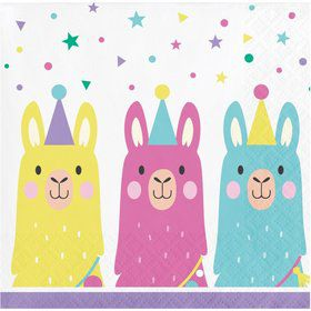 Llama Party Beverage Napkin (16)