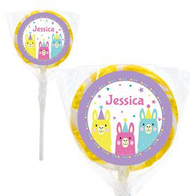 "Llama Party Personalized 2"" Lollipops"
