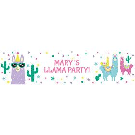 Llama Party Personalized Banner