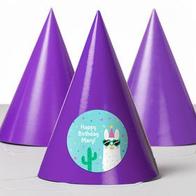Llama Party Personalized Party Hats