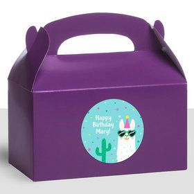 Llama Party Personalized Treat Favor Boxes