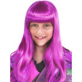 Long Purple Neon Wig