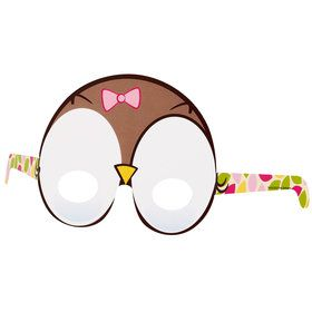 Look Whoo's 1 Owl Pink Paper Masks One size
