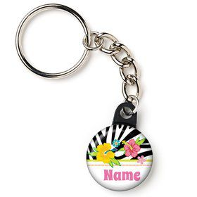 "Luau Fun Personalized 1"" Mini Key Chain (Each)"