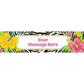 Luau Fun Personalized Banner (Each)