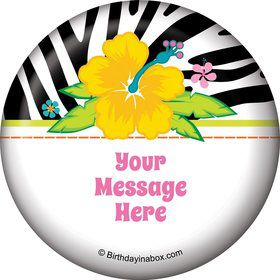 Luau Fun Personalized Button (Each)