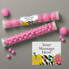 Luau Fun Personalized Candy Tubes (12 Count)