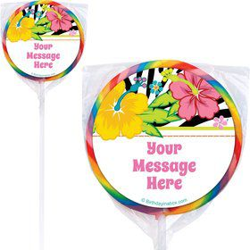 Luau Fun Personalized Lollipops (12 Pack)
